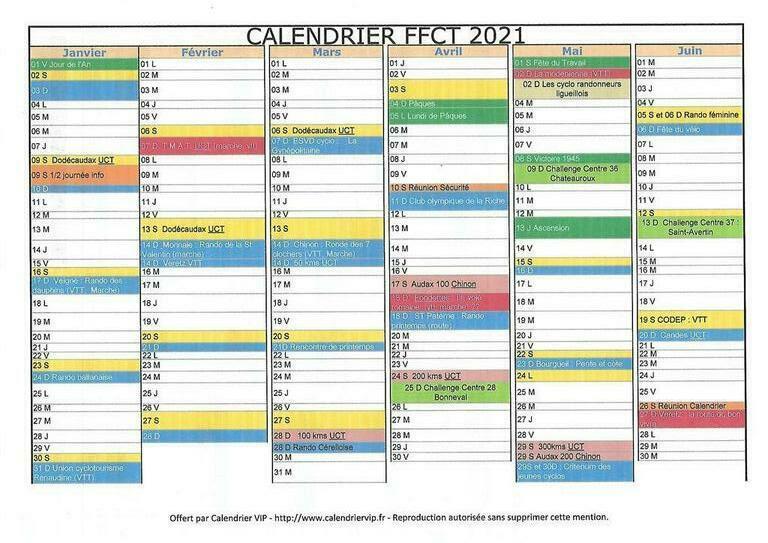 Calendrier Ffct 2022 Calendrier FFCT 20121   Club Olympique La Riche